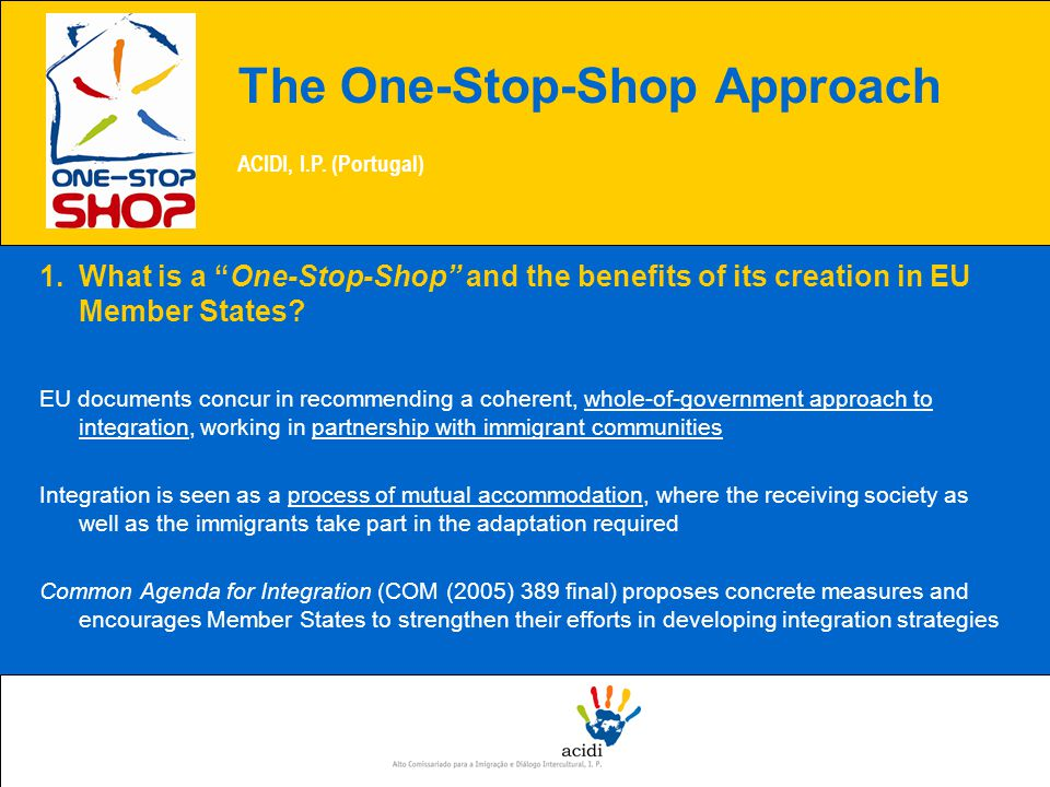 1.What is a One-Stop-Shop and the benefits of its creation in EU Member States.