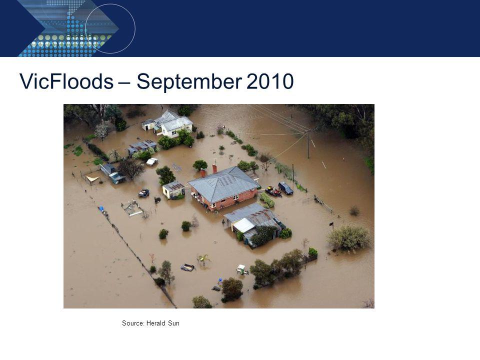 VicFloods – September 2010 Source: Herald Sun