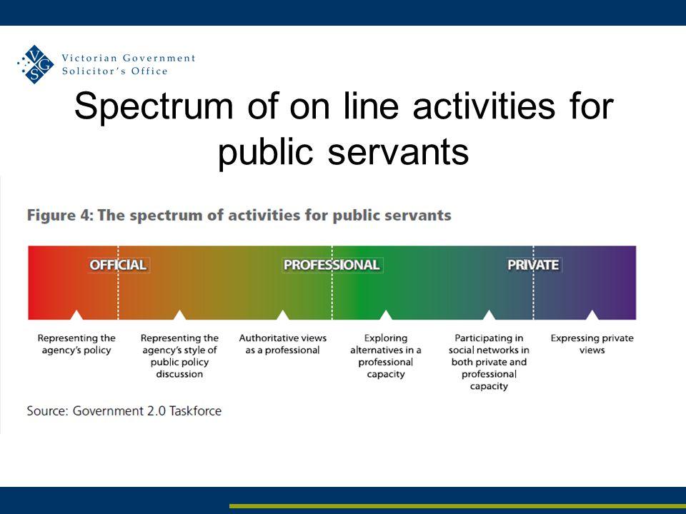 Spectrum of on line activities for public servants