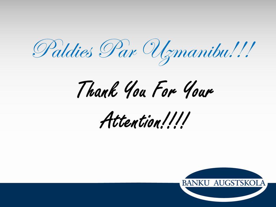 Thank You For Your Attention!!!! Paldies Par Uzmanibu!!!