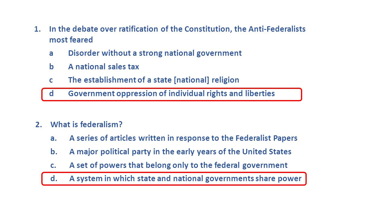 3.Constitutional principle by which each branch of government can limit the power of another a.