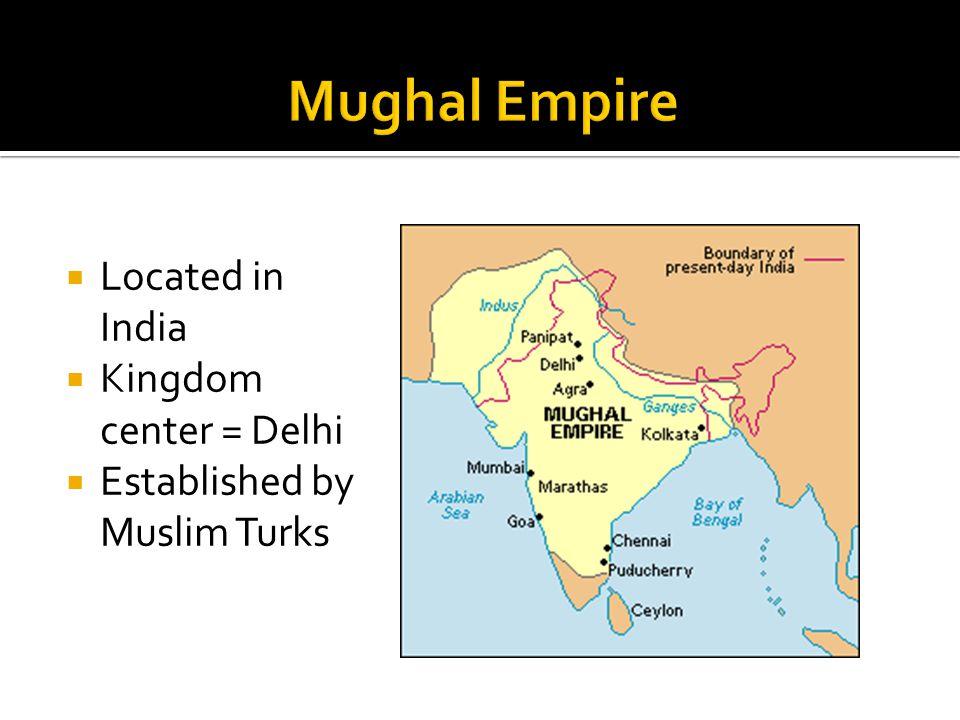  Located in India  Kingdom center = Delhi  Established by Muslim Turks