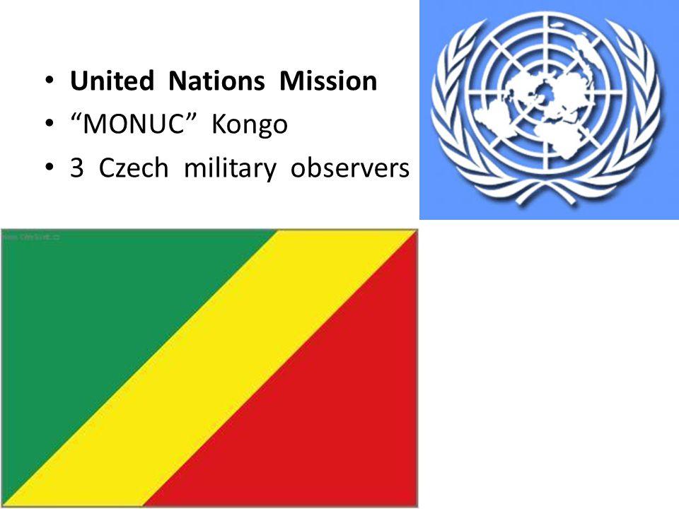 United Nations Mission MONUC Kongo 3 Czech military observers