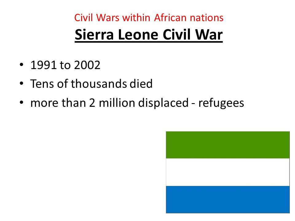 Colonial Conflicts in Africa Boer wars 1st : 1880 to 1881 2nd: 1899 to 1902 British versus South Africa Concentration camps