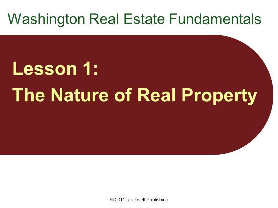 © 2011 Rockwell Publishing Property Real vs.
