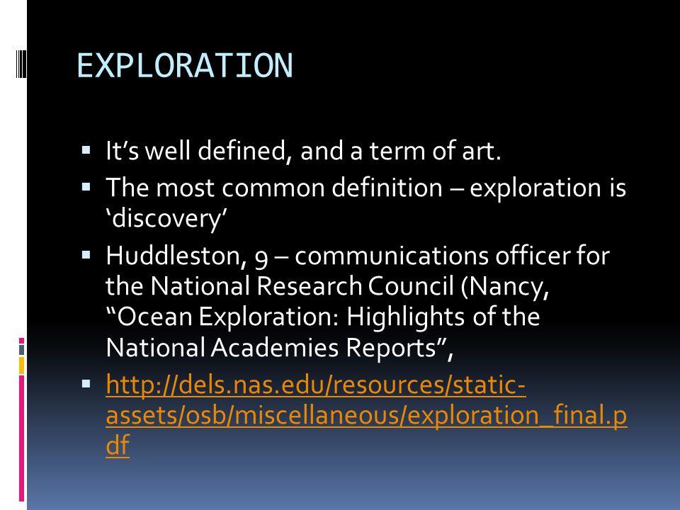 What Is Ocean Exploration?