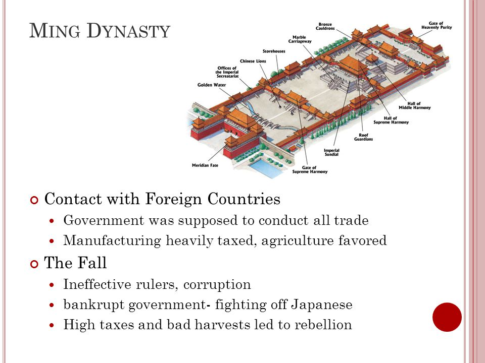 Q ING (P URE ) D YNASTY (M ANCHUS ) Li Tzu-ch'eng led rebellion against Ming- end of Ming dynasty Ming family invited Manchu to help them re-take the throne Manchus drive Li Tzu-ch'eng out of Peking, but claim the throne for themselves