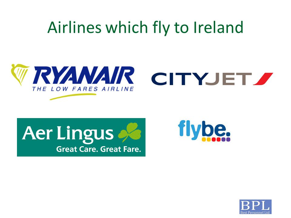 Airlines which fly to Ireland