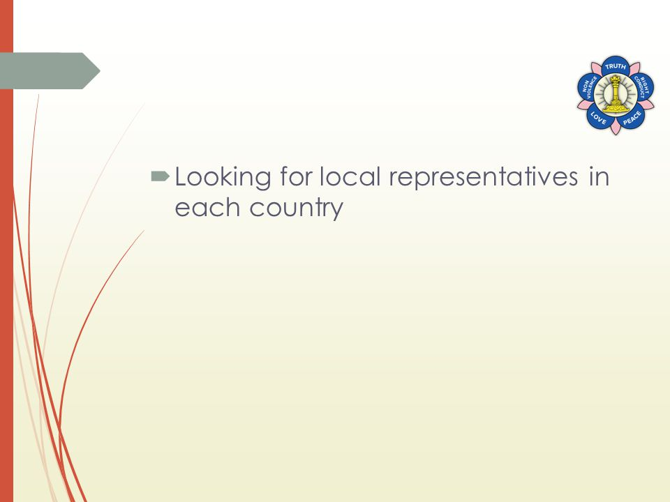  Looking for local representatives in each country