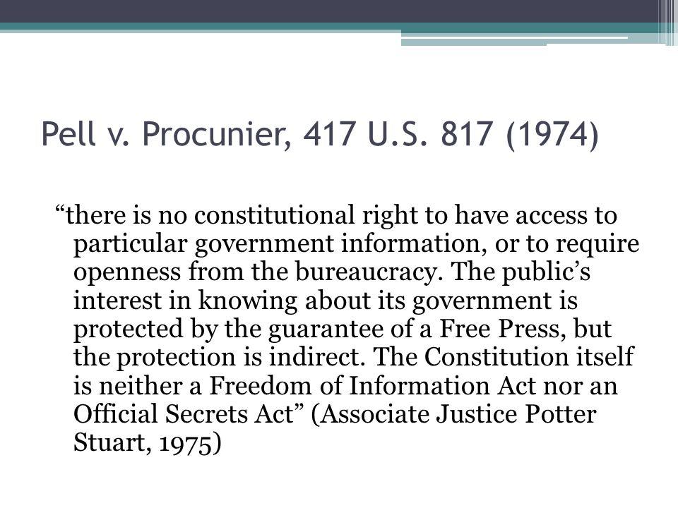 Pell v.Procunier, 417 U.S.
