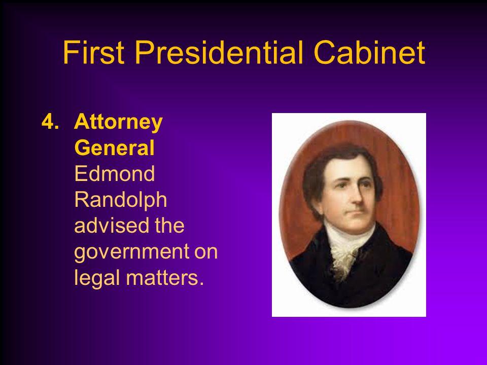 3.Secretary of the Treasury Alexander Hamilton managed the government's money.