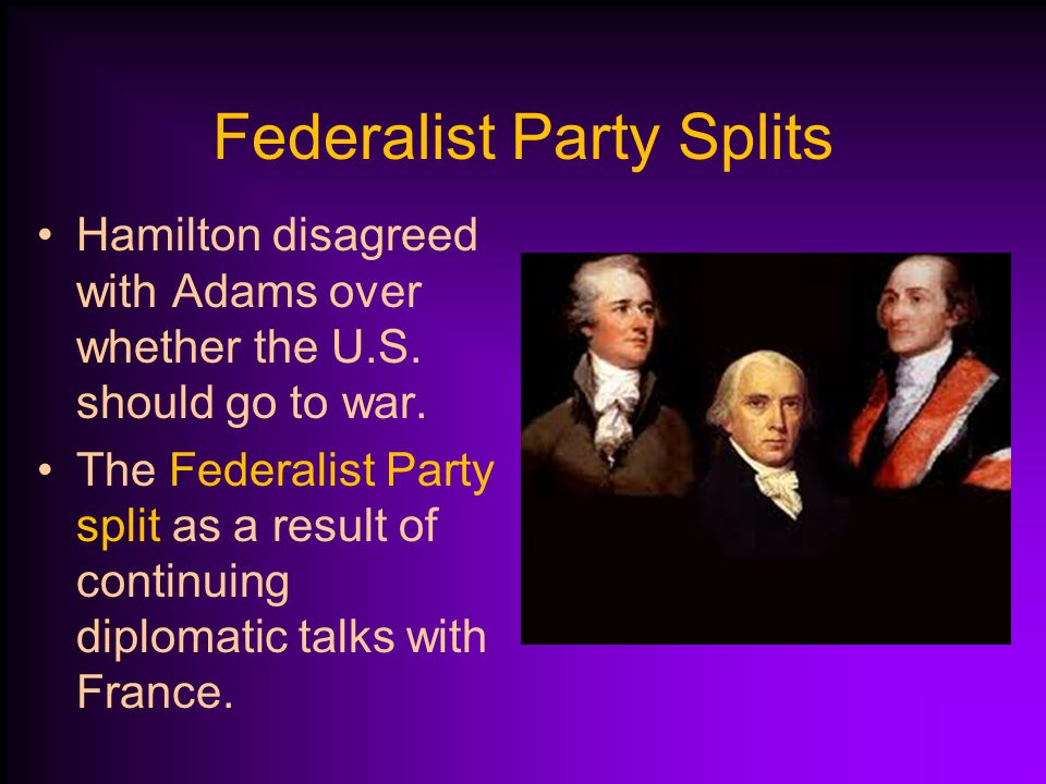 War Avoided President Adams strengthened the navy to keep the nation out of war.