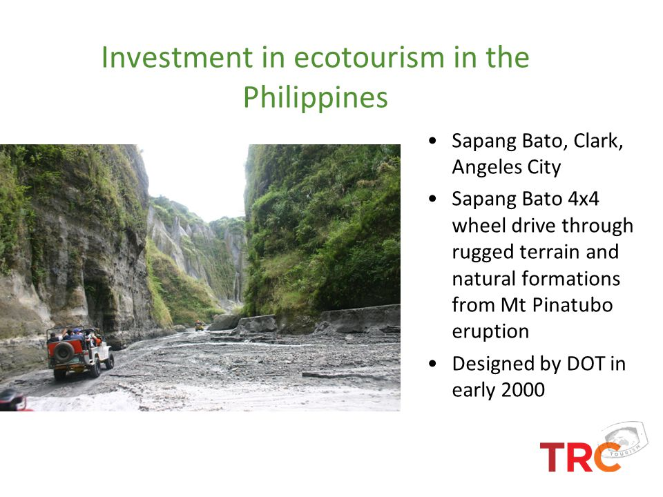 Investment in ecotourism in the Philippines Sapang Bato, Clark, Angeles City Sapang Bato 4x4 wheel drive through rugged terrain and natural formations
