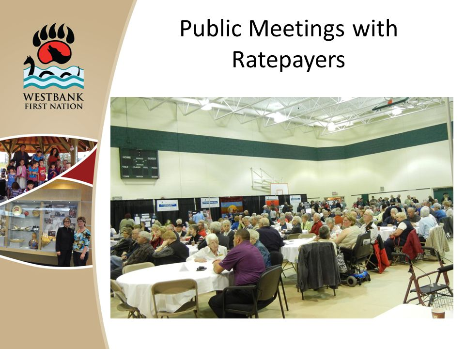 Public Meetings with Ratepayers