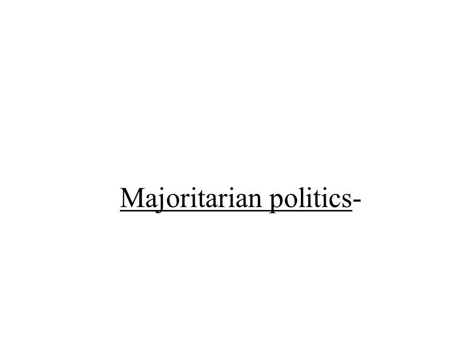 Majoritarian politics-