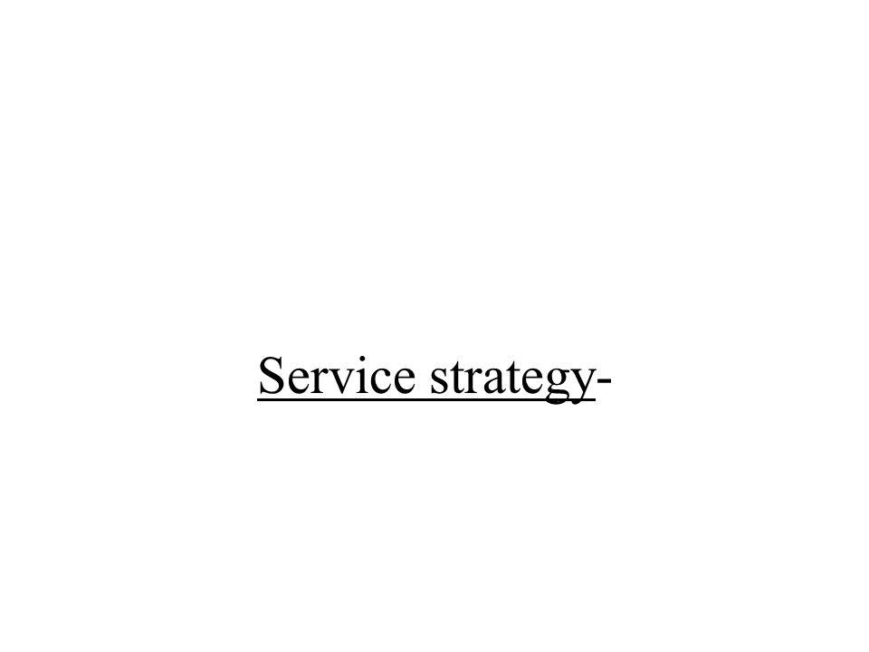Service strategy-