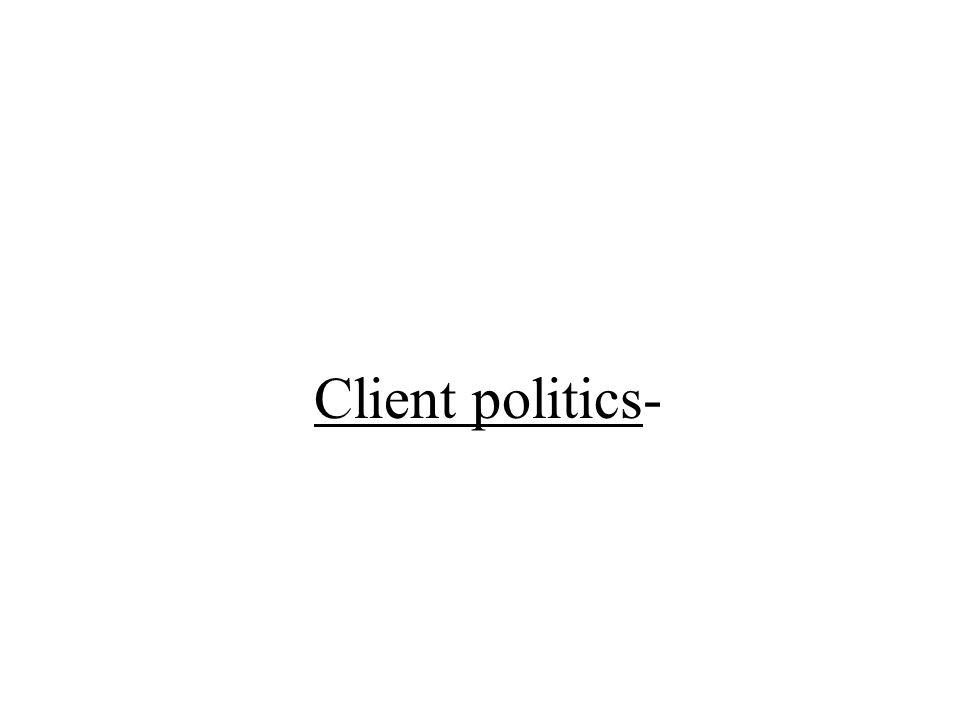 Client politics-