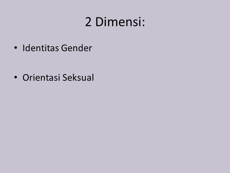 2 Dimensi: Identitas Gender Orientasi Seksual