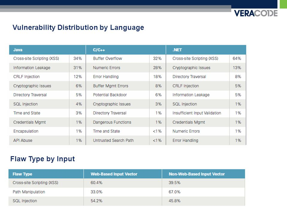Vulnerability Distribution by Language Flaw Type by Input