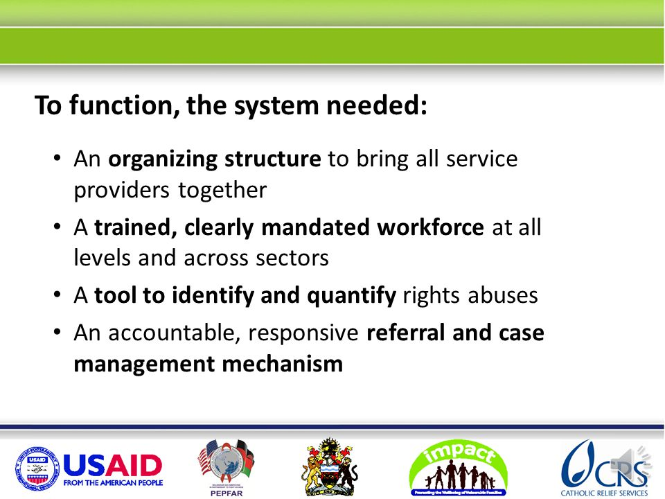 The system lacked coordination, role clarity and common purpose. When we started