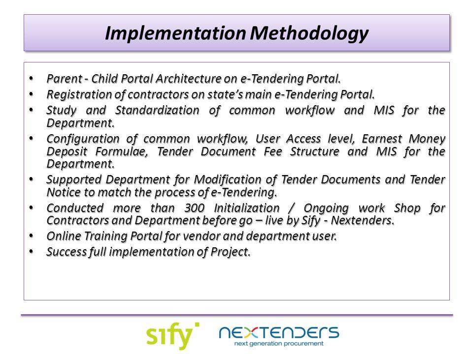 Implementation Methodology Parent - Child Portal Architecture on e-Tendering Portal.