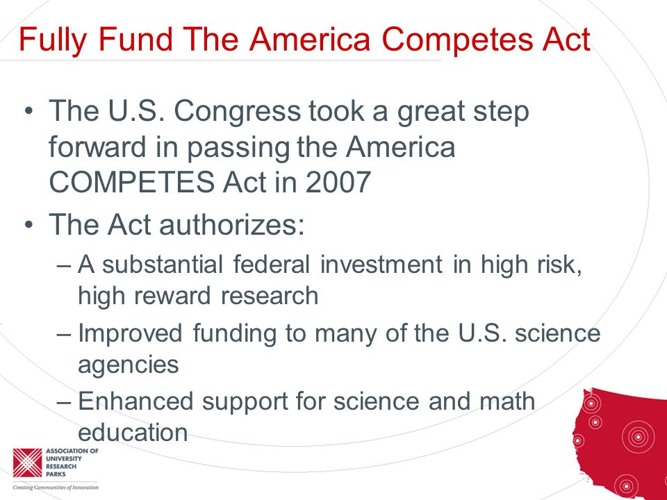 Fully Fund The America Competes Act The U.S.
