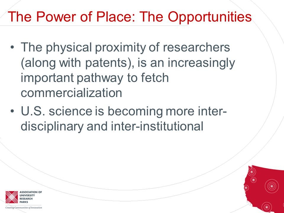 The Power of Place: The Opportunities Private industry collaborations with universities and federal labs account for an increasing share of U.S.