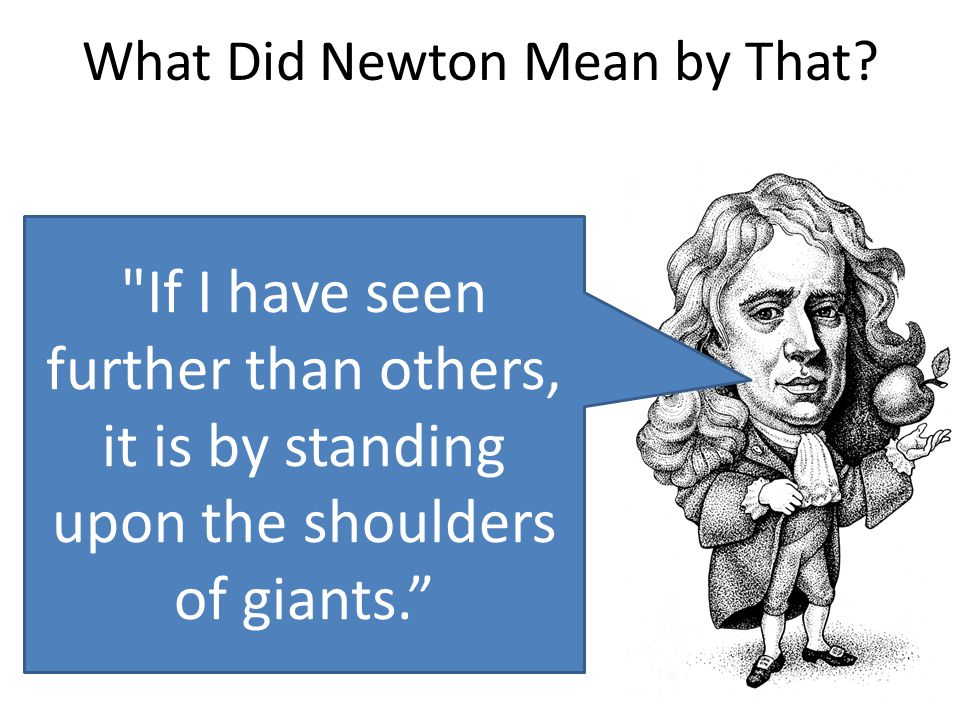 What Did Newton Mean by That?