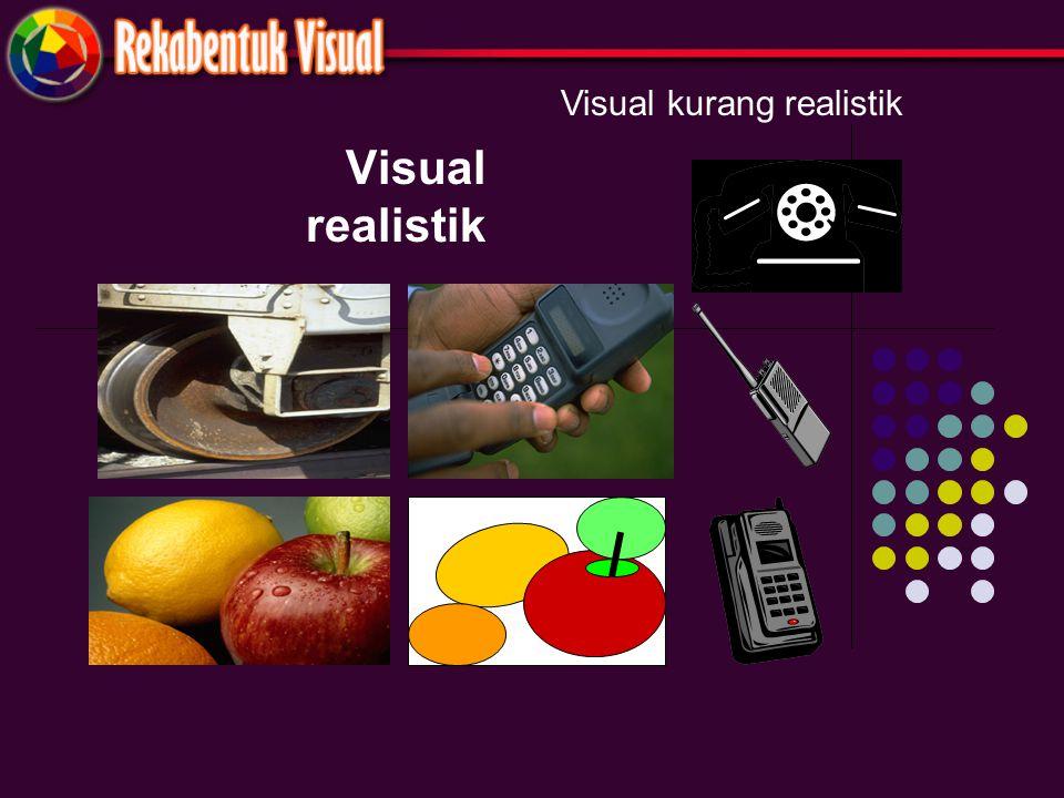 Visual realistik Visual kurang realistik