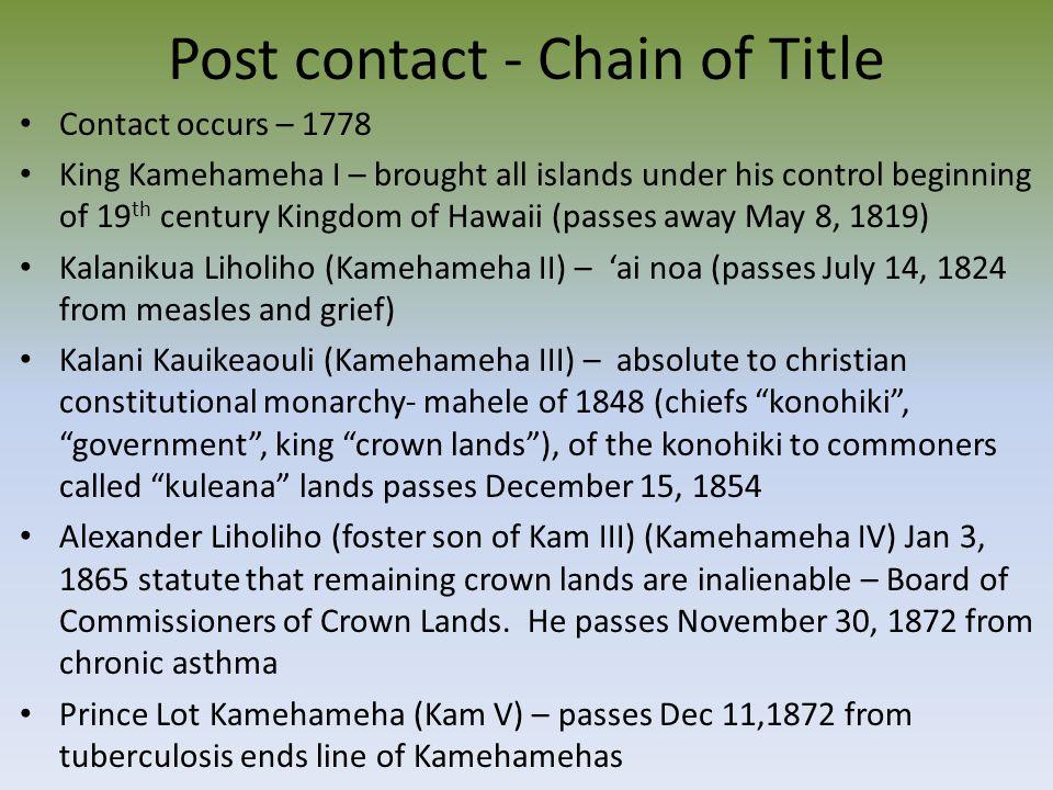 Chain of Title Prince William C.