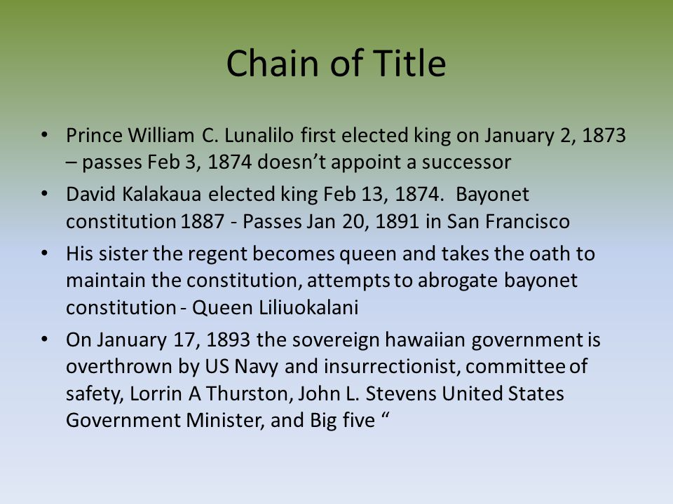 Chain of title?.
