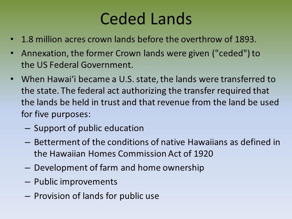Now OHA history Co-managed for 10 years according to MOA OHA Strategic Plan – Kahua waiwai – 'Aina – Mo'omeheu – Mauli ola – Ea – Ho'ona'auao