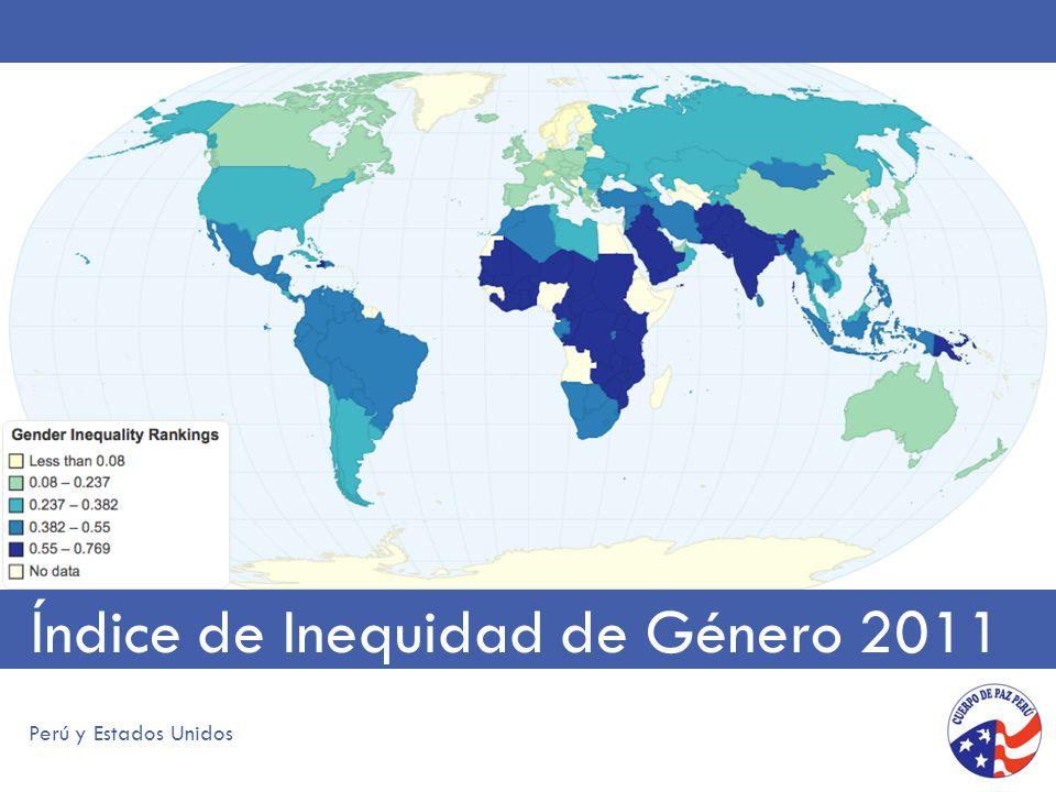 Índice de Inequidad de Género 2011 Perú y Estados Unidos