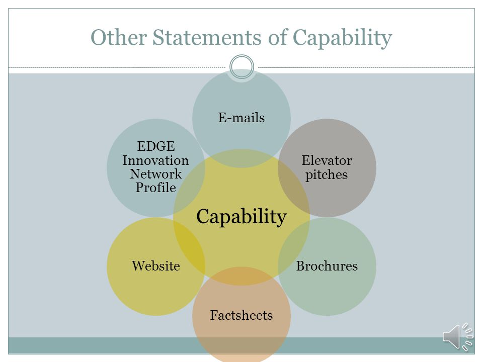 What is a Capability Statement A statement of how you can provide value and meet your government contact's needs.