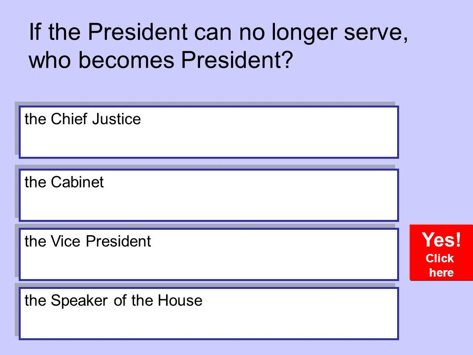 If the President can no longer serve, who becomes President.