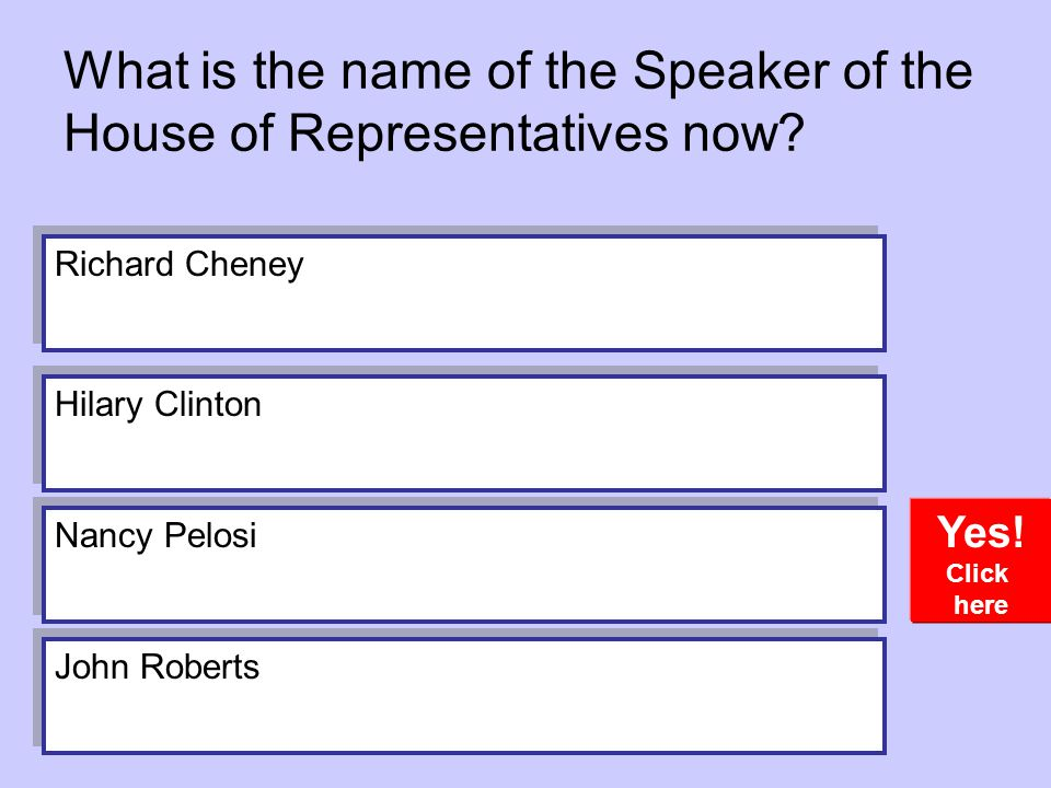 What is the name of the Speaker of the House of Representatives now.
