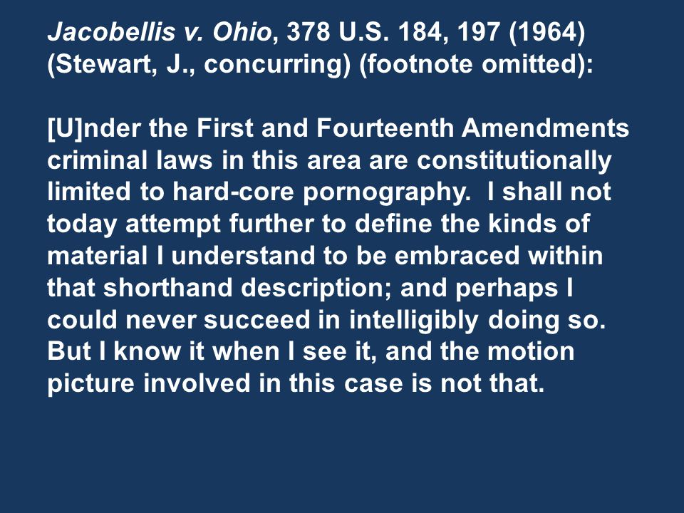 Jacobellis v. Ohio, 378 U.S.