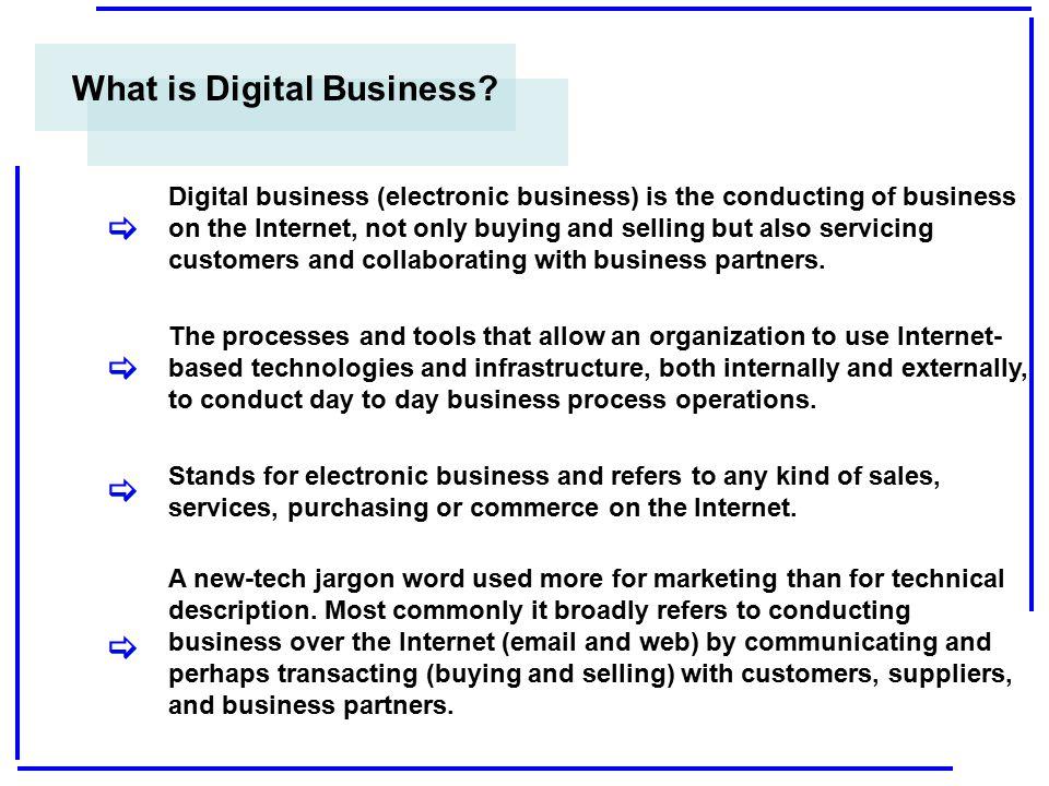 Thank You ! The Digital Business is the present and the future