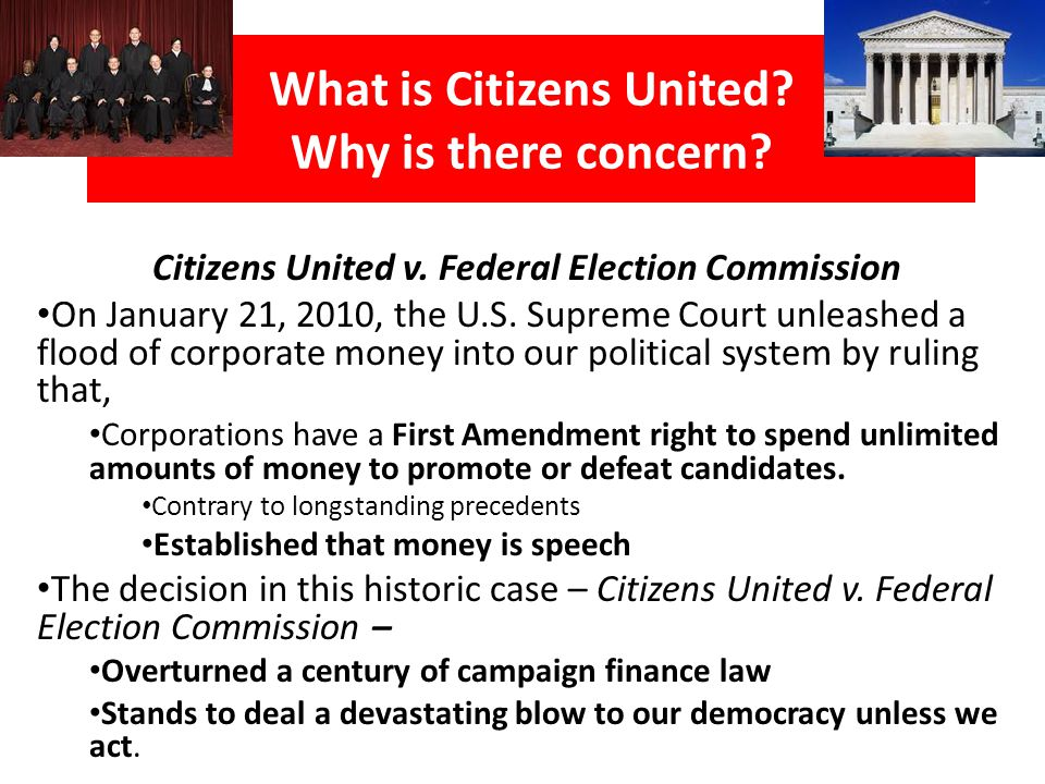 Citizens United breaks precedent: Stare decisis (ˈstɛəri dɨˈsaɪsɨs) is a legal principle by which judges are obliged to respect the precedents established by prior decisions.