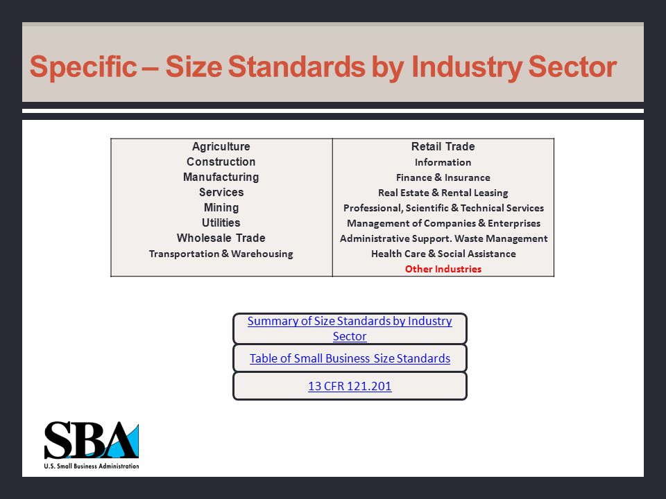 NAICS Codes Size standards are based on 6-digit NAICS industry codes It is important to understand how a business has to meet the size standard for a specific NAICS code Understanding NAICS CodesUnderstanding NAICS Codes (What is NAICS?) NAICS FAQs