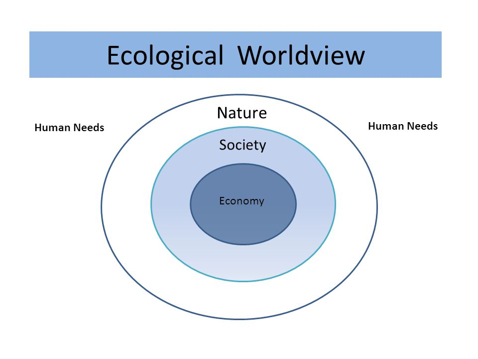 Nature Economy Society Ecological Worldview Human Needs