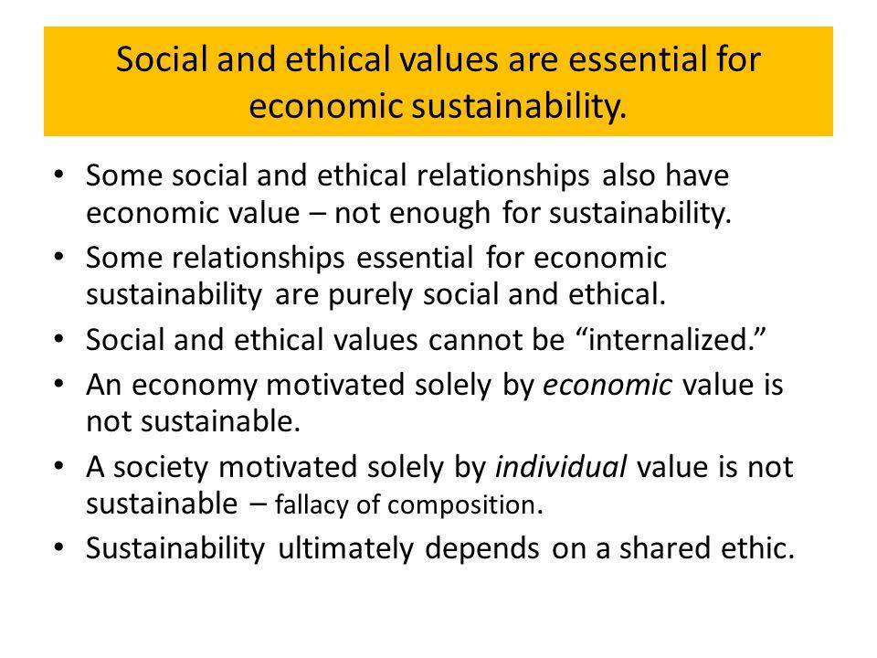 Social Principles also Relevant to Ecological Relationships Ecological principles cannot be in conflict with social principles; truth cannot be in conflict with truth.