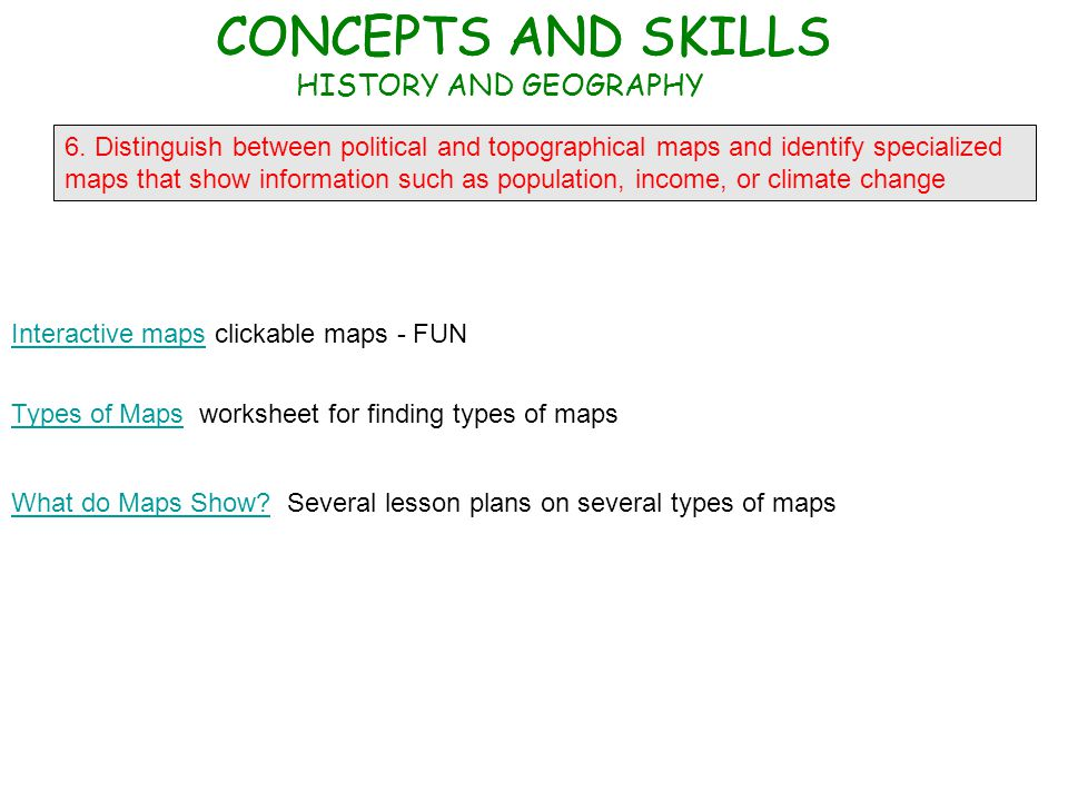 G RADE 5 UNITED STATES HISTORY GEOGRAPHY ECONOMICS AND – Types of Maps Worksheet
