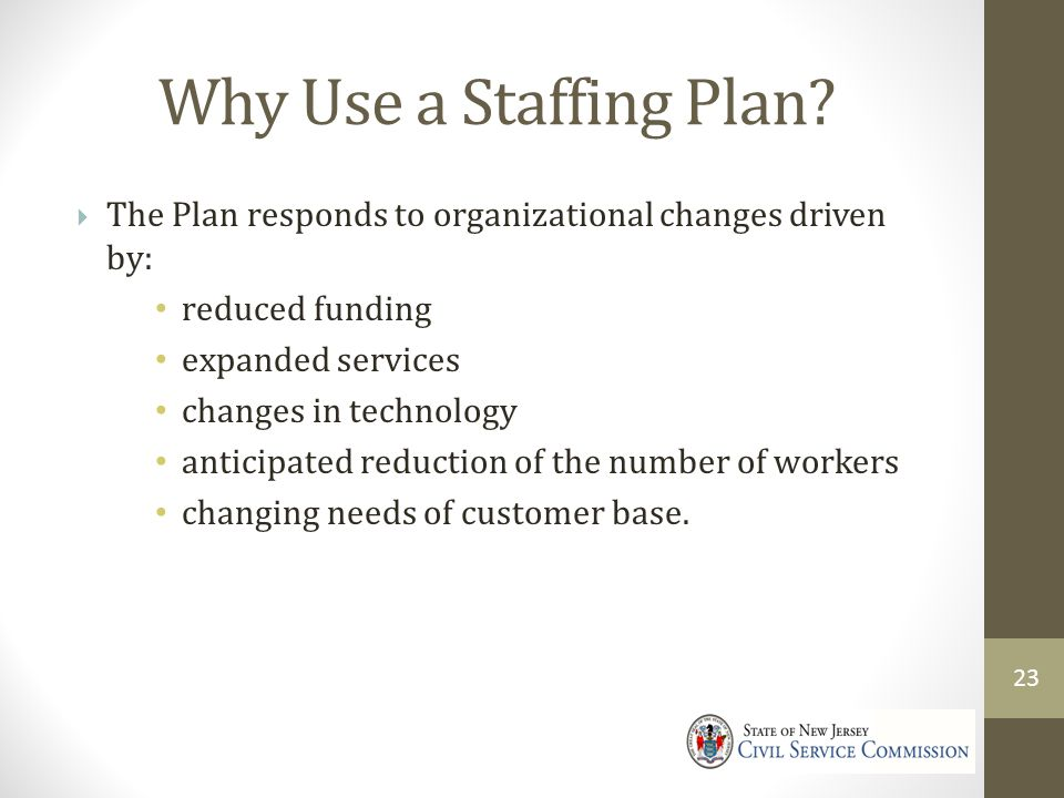 Why Use a Staffing Plan.