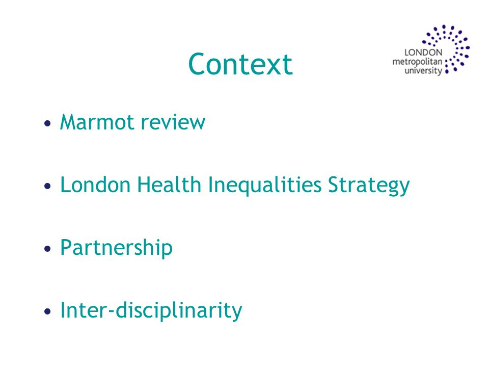 Levers There is a perception among some statutory agencies that responsibility for delivery lies with the local NHS.