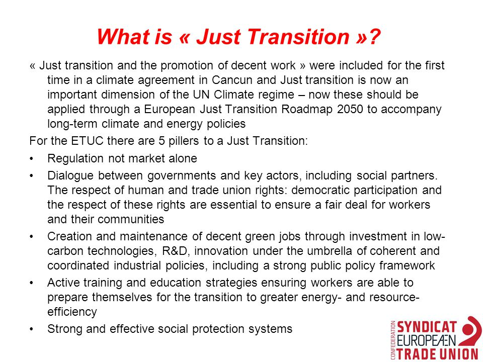 What is « Just Transition ».