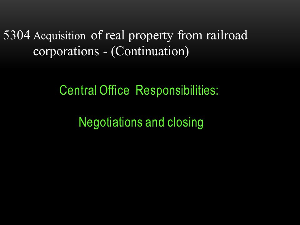 5303Acquisition of publicly owned property- ODOT acquires rights of way for State / Federal government.