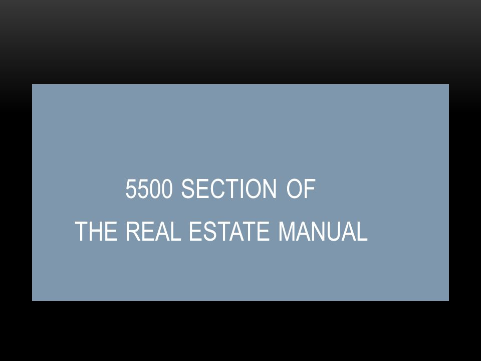 5400 SECTION – MANUAL CHANGES Minor changes All statements referencing the Office of Production were removed.