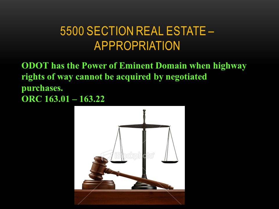 5500 SECTION OF THE REAL ESTATE MANUAL