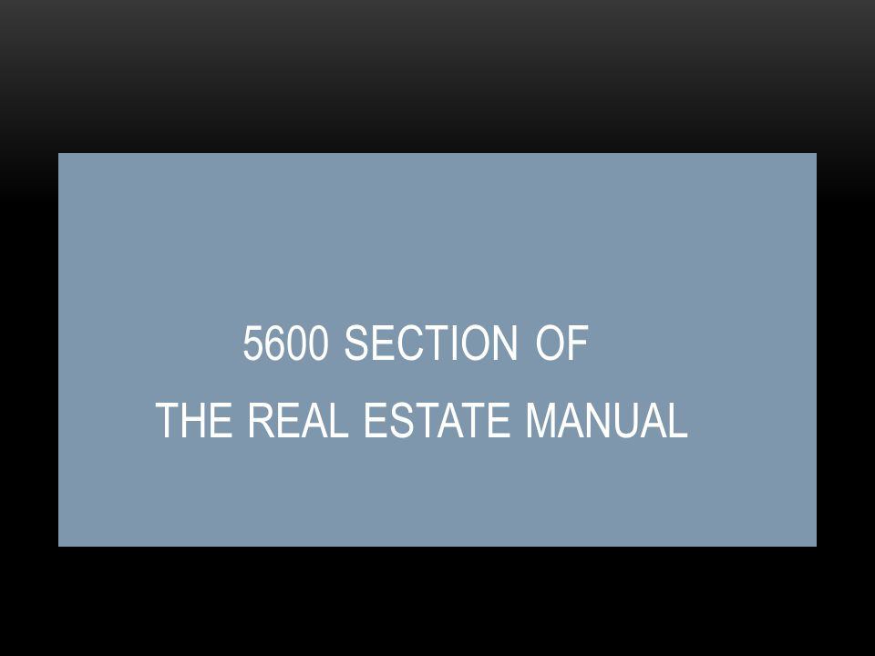 5500 Section Real Estate Manual – Appropriation- cont.